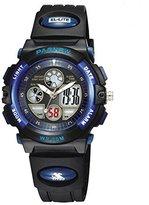 Pasnew Girls Watch Kids Analog Digital Watch Waterpfoof Sports Plastic Boys Wrist Watch 048g Navy Blue