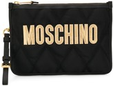 Moschino logo quilted clutch