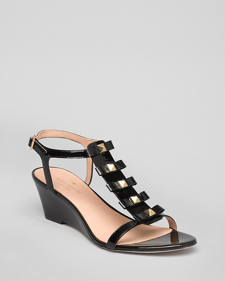 Kate Spade Demi Wedge Sandals - Darcey Bow