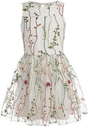 Calvin Klein Mesh Garden Sleeveless Dress