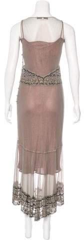 Lela Rose Embellished Metallic Gown
