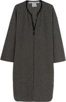 Raquel Allegra Striped merino wool and cashmere-blend dress