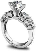 Epinki Women Rings, 925 Sterling Ring Proposal Ring 4-Prong Set Cubic Zirconia Size 7.5