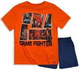 Marvel Boys Spiderman T-Shirt Shorts PJ Set New Kids Superhero Pajamas