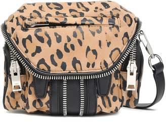 Alexander Wang Leopard-print And Textured-leather Shoulder Bag