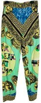 Gianni Versace Green Cotton Trousers for Women Vintage