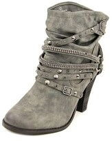 Not Rated Swazy Women Round Toe Synthetic Gray Ankle Boot.