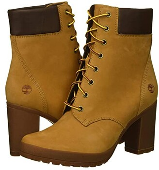 Timberland Camdale 6 Boot (Wheat Nubuck) Women's Lace-up Boots