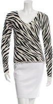 Magaschoni Cashmere Printed Sweater