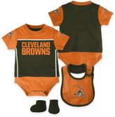 NFL Cleveland Browns Lil Jersey 3-Piece Creeper, Bib, and Bootie Set