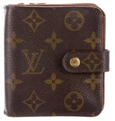 Louis Vuitton Monogram Compact Zippy Wallet