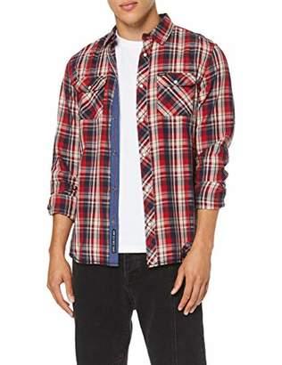 Kaporal Men's GEKAR Dress Shirt, Red M42, M