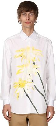 Loewe Flower Printed Cotton Poplin Shirt