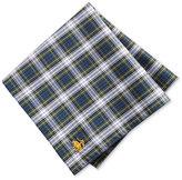 Brooks Brothers Men's Cotton Green Tartan Pocket Square