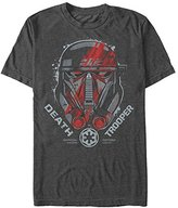 Star Wars Men's Rogue One Death Trooper Squad Helmet Graphic T-Shirt
