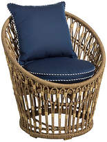One Kings Lane Palma Wicker Chair - Midnight/White
