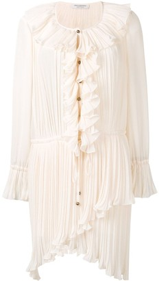 Philosophy di Lorenzo Serafini Ruffle Shirt Dress