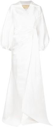 Parlor Letizia wrap bridal gown
