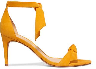 Alexandre Birman Clarita Bow-embellished Suede Sandals - Yellow