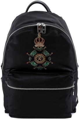 Dolce & Gabbana Maltese Cross Patch Backpack