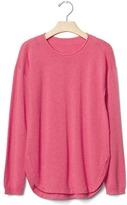 Gap Solid curve-hem sweater