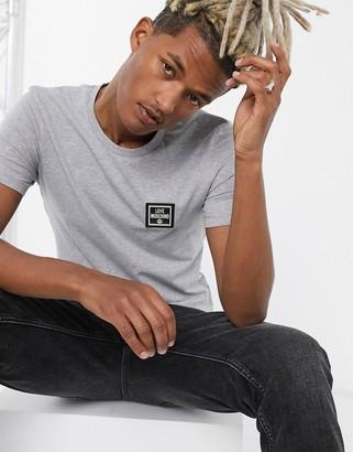 Love Moschino chest logo t-shirt-Grey