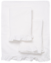 Melange Home Linen Cotton Ruffle Sheet Set