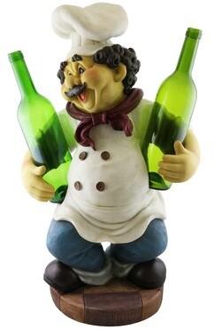Wine Bodies Luann Happy Chef 2 Bottle Tabletop Wine Bottle Rack