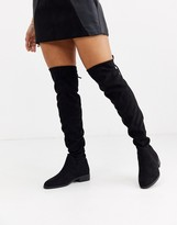 Pimkie flat knee high boots in black