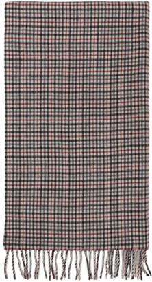 Rag & Bone Red and Black Wool Classic Plaid Scarf