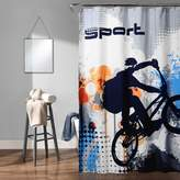 Lush Decor Blue Bmx Shower Curtain