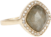 Accessorize Square Stone Crystal Ring