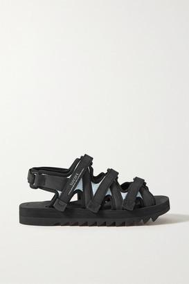 Suicoke Cecilie Bahnsen Edda Silk-cloque, Neoprene And Grosgrain Sandals - Black