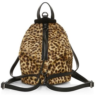 Rebecca Minkoff Mini Julian Leopard-Print Calf Hair Backpack