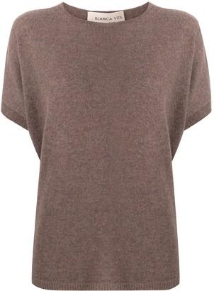 Blanca Vita Short-Sleeved Cashmere Top