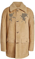 Alexander McQueen Embroidered and Embellished Shearling Jacket