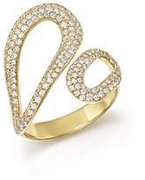 Ippolita 18K Yellow Gold Cherish Diamond Bypass Ring