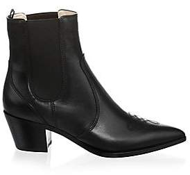 Gianvito Rossi Women's Western Leather Chelsea Boots