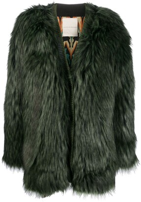 Marco De Vincenzo Faux Fur Coat