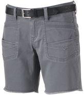 UNIONBAY Juniors' Belted Twill Bermuda Shorts