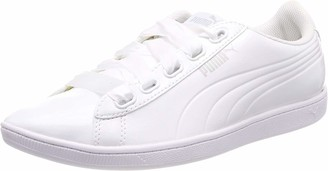 Puma Women Vikky Ribbon P Low-Top Sneakers White White White 02) 7.5 UK (41 EU)