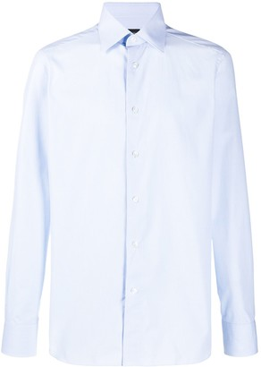Ermenegildo Zegna Long-Sleeved Cotton Shirt