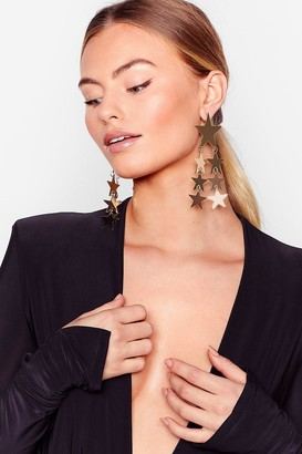 Nasty Gal Womens Star-t the Day Drop Earrings - Gold
