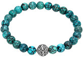 John Hardy Large Turquoise Beaded Bracelet with Magnetic Clasp