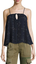 The Fifth Label The Bahama Keyhole Top, Blue Pattern