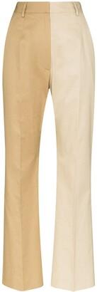 MM6 MAISON MARGIELA Two-Tone Flared Trousers