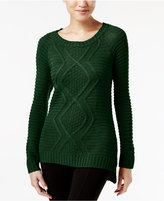 NY Collection Cable-Knit Sweater