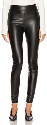 Wolford Estella Faux Leather Back Seam Legging in Black | FWRD