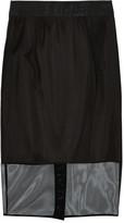 Milly Stretch-mesh skirt