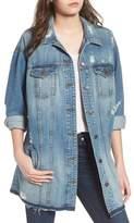 STS Blue Long Denim Boyfriend Jacket